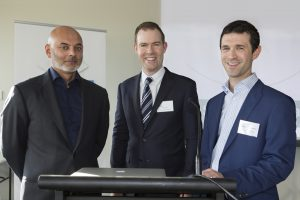Associate Professor Salmaan Qureshi, Dr Nathan Kerr and Associate Professor Simon Skalicky at Grand Rounds Event