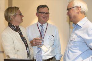 Associate Professor Heather Mack, Dr James Galbraith and Optometrist at Grand Rounds Event